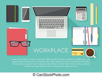 Workspace Flat Poster