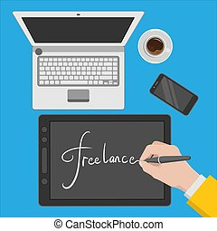 workspace, freelance, ilustração, desenho, desenhista