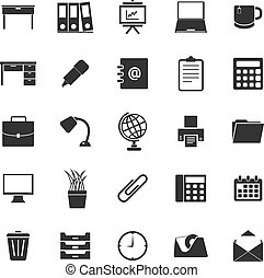 Workspace icons on white background