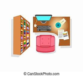Workspace Interior Icon Vector Illustration