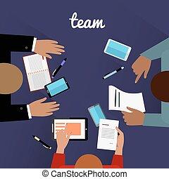 Workspace Team Design Flat Concept