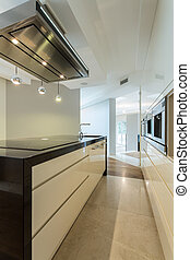 Worktop in contemporary kitchen