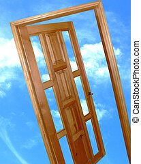 worl, drzwi, nowy