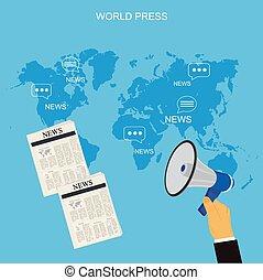Worl press concept