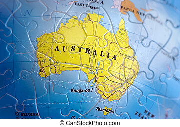 World 3d puzzle europe exploring europe through magnifying world 3d puzzle australia australia map puzzle gumiabroncs Images