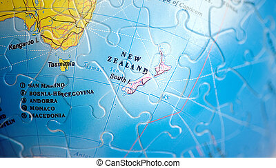 World 3D Puzzle: New Zealand