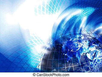 world - 3d render of globe.