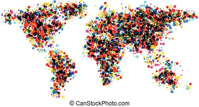 World abstract map.