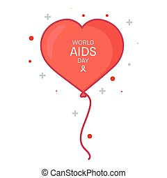 World AIDS Day ballon poster