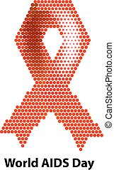 World AIDS Day. Ribbon red Vector illustration
