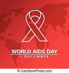 world aids day with ribbon