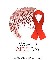 World AIDS Day - World AIDS day illustration, abstract globe...