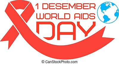 world aids day2.eps - World AIDS Day label template. Stop...