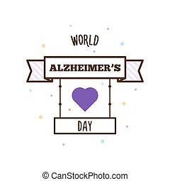 World Alzheimers day. Vector illustration. - World...