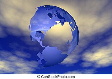 world and sky