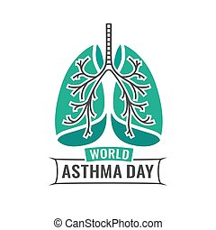 World Asthma Day - Beautiful vector illustration of medical ...
