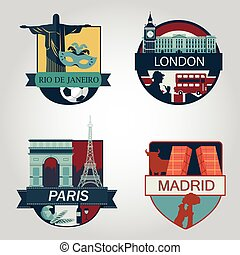 World attraction vector illustration