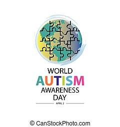 World autism awareness day concept. April 2.