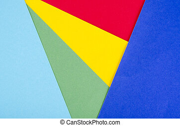 World Autism Awareness Day concept on different geometric colors background. Creative idea.