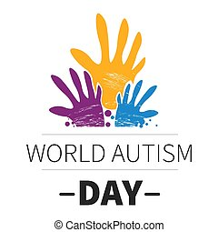 World autism day medicine and mental health isolated emblem