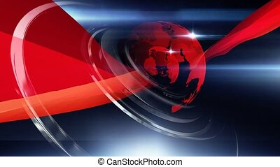 World Background Red Blue - Virtual set studio for green...