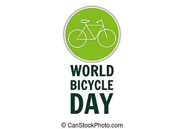 World Bicycle Day. June 3. Holiday concept. Template for ...