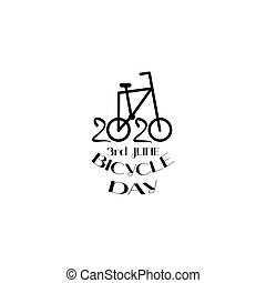 World bicycle Day vector template. Design for banner, print.