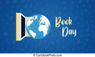 world book day with earth planet