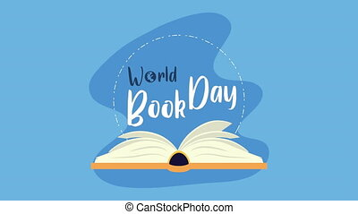 world book day with lettering celebration