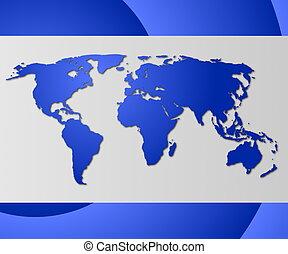 world business card