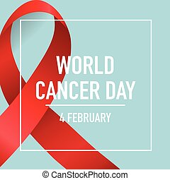 World cancer day. February 4. World cancer day design...