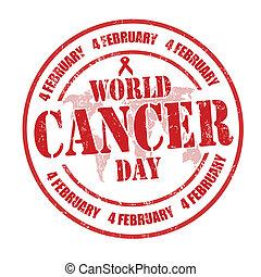 World Cancer Day stamp