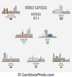 World capitals. Famous Places of American cities