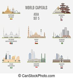 World capitals  - World capitals. Famous Places Asian Cities