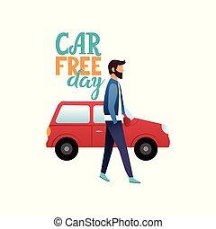 World Car Free day. September, 22.
