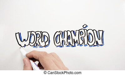 World champion test drawing - Animated time lapse of right...