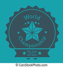 world championship design over blue background vector illustration