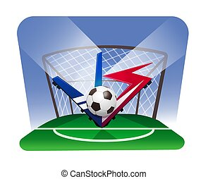 world championship football cup. Battle vs match, game concept competitive vs.