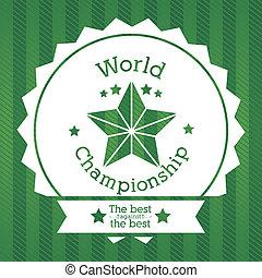 world championship over green background vector illustration