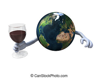 world cheers with red wine