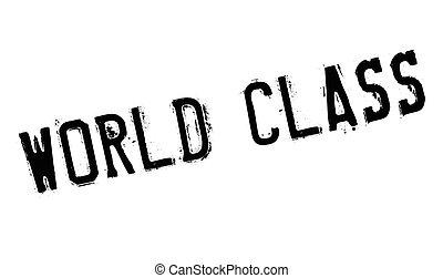 World Class rubber stamp