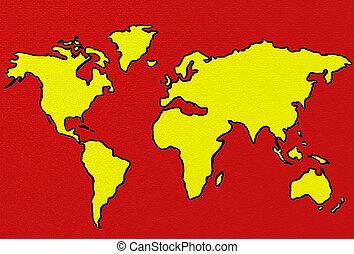 world - map illustration
