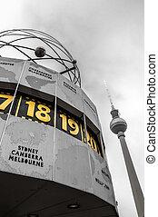 World Clock at Alexanderplatz, Berlin, Germany