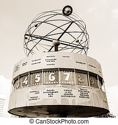 World Clock at Alexanderplatz, Berlin, Germany
