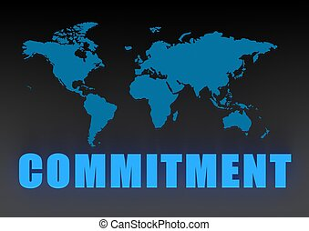 World commitment - Rendered artwork with white background