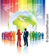 World conflict - Confrontation of different business teams ...