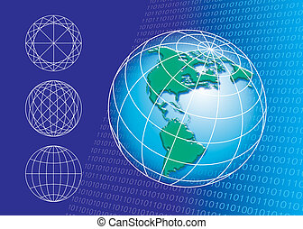 World connection - illustration of Globe shape and...