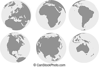World continents world map with continents vector outline world continents gumiabroncs Image collections