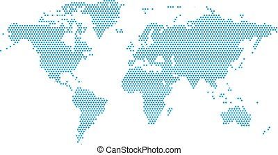 World Continents Map - Dots style illustration