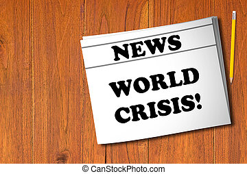 World Crisis Concept